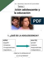 La Transiciòn Adolescente y La Educacion