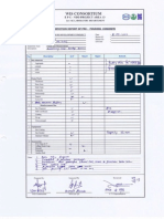 Inspection Report of Pre Pouring Concrete