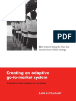 BAIN BRIEF Creating an Adaptive Go to Market System