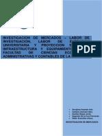 Invesstigacion de Mercd. - Labor de Extension, Proyeccion Social y Equipamiento de La Facultad de Ciencias Economicas, Administrativas y Contables de La Unprg