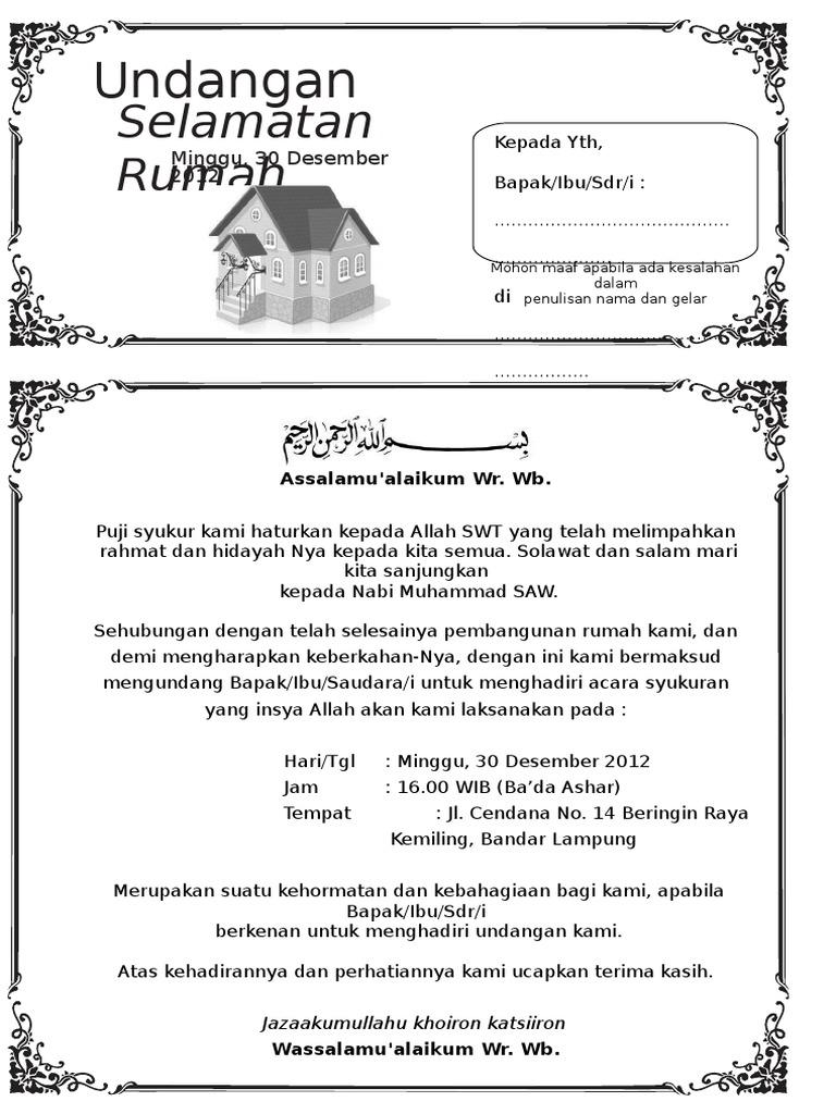 22++ Contoh surat undangan walimatul aqiqah terbaru terbaik