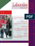 Tema Laboral Nº20 La Trayectoria Laboral de Las Personas, Un Aporte Al Debate Sobre La Protección Al Trabajo