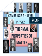 Chapter 13 Thermal Properties of Matter
