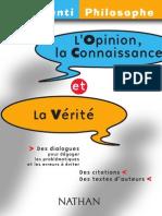 Brenifier- L Opinion- La Connaissance