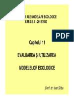 Capitolul 11 Evaluarea Modelelor