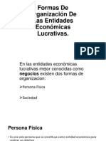 Formas de Organización de Las Entidades Económicas Lucrativas