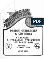 Design Guidelines Criteria Channels Hydraulic Structures Sandy Soils