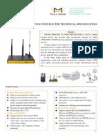 f3634s Cdma2000 1x Evdo Wifi Router Technical Specification