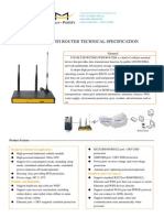f3834s Lte&Wcdma Wifi Router Technical Specification
