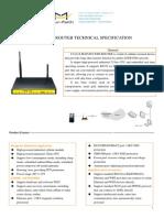 f3a34 Lte&Evdo Wifi Router Specification
