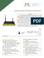 F3434 WCDMA&HSDPA&HSUPA&HSPA+ WIFI ROUTER SPECIFICATION