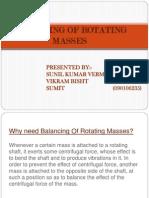 Balancing of Rotating Masses