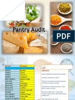 Pantry Audit