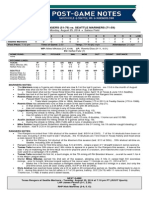 08.25.14 Post-Game Notes