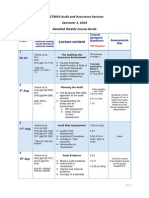 ACCT3014 Detailed Weekly Schedule Semester 2 2014