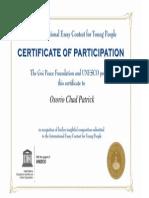 Chad Osorio- UNESCO CERTIFICATE