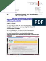 Mike Meier DMCA Letter to ELI Domain Registrar
