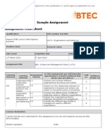 Pearson BTEC Level 5 HND Diploma in Business Sample Assignment