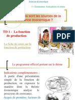 TD 2- La Fonction de La Production 2014-2015
