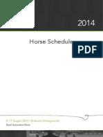 2014 Horse Schedule Final