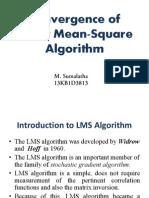 Convergence of LMS Algorithm