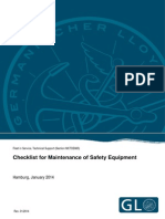 GL Checklist for Maintenance of Safety Equipment Tcm4-590999