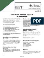 Drainage Factsheet Subdrain System Design Nomograph
