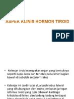 Aspek Klinis Hormon Tiroid