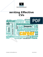 Writing Effective CVs