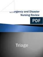 Emergency and Disaster Nursing Review