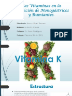 Las Vitaminas en La Nutrición de Monogástricos y