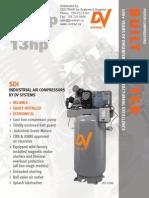 5hp 7 5hp 10hp 13hp Standard Industrial Piston Compressor Brochure