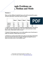 Sample Problems on Mean Median and Mode