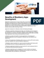 Benefits of Blackberry Apps Development