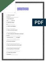 Questions 2ºSec