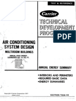 AC System Design - Air Duct Design Annual Energy Summary