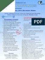IBRO NERKA School on Neurophotonics 2014 -- Program