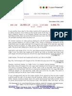 Dec 7th 09 Oxyzen Market Report