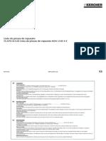 Lista de Piezas de Repuesto HDS 1195 S E