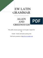 Greenough, J. B. Et Al. (1903), New Latin Grammar