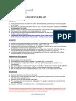 Lc Docs Checklist