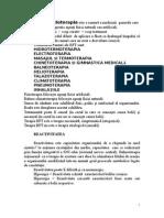 BFT Este Ramura a Nedicini Generale Care Foloseste in Scop Terapeutic Adebti Fizici Naturali Sau