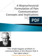 A Biopsychosocial Formulation of Pain Communication 2