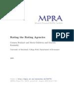 Rating the Rating Agencies Carmen Reinhart and Graciela Kaminsky