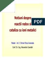 Reactii Redox Si Cataliza Cu Ioni Metalici [Compatibility Mode]
