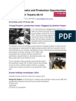 Technical Theatre and Production Opportunities With LYT in 2010