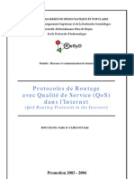 Routage avec QoS dans l'Internet (QoS Routing in The Internet)