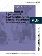 Instructions for Giving Intramuscular Injections of Hydrocortisone