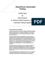 Totally Data Driven Automated Testing