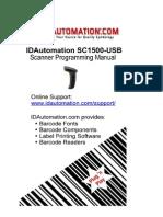 SC1500 USB Barcode Scanner
